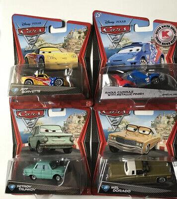 Disney Pixar Cars2 Lot Of 4 Jeff Korvette,Raoule Caroule,Mel Dorado,PETROV Trunk
