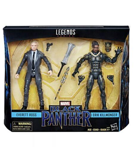 New Marvel Legends Series Black Panther Everett Ross /& Erik Killmonger Figures