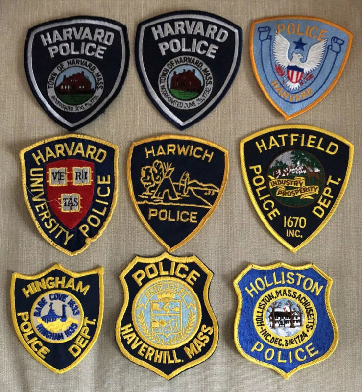 Massachusetts Police Patch Lot of 20 H's