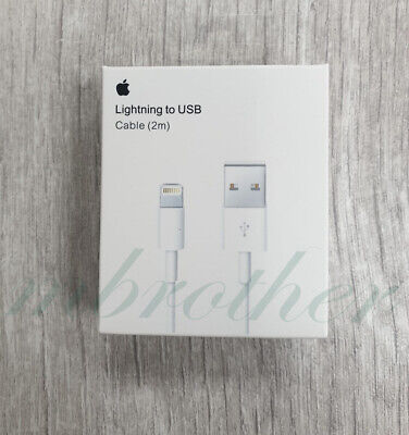 Genuine Apple iPhone 5 6 6S 7 8+ XS 2m Lightning To USB Sync Charger Lead Cable