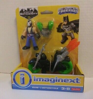 Imaginext DC Super Friends Bane and Motorcycle Streets of Gotham City Batman