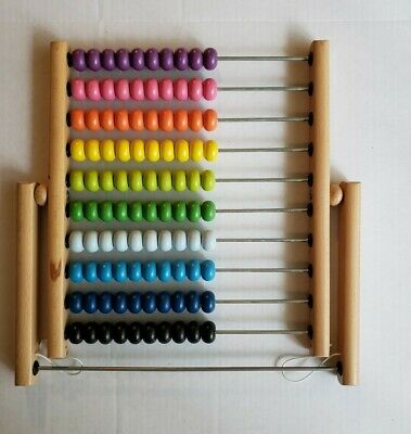 Ikea Math Wooden Counting Beads ABACUS Educational colorful