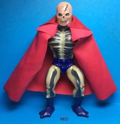 VINTAGE HE-MAN MOTU MATTEL ACCESSORY-SCARE GLOW'S CUSTOM RED CAPE..