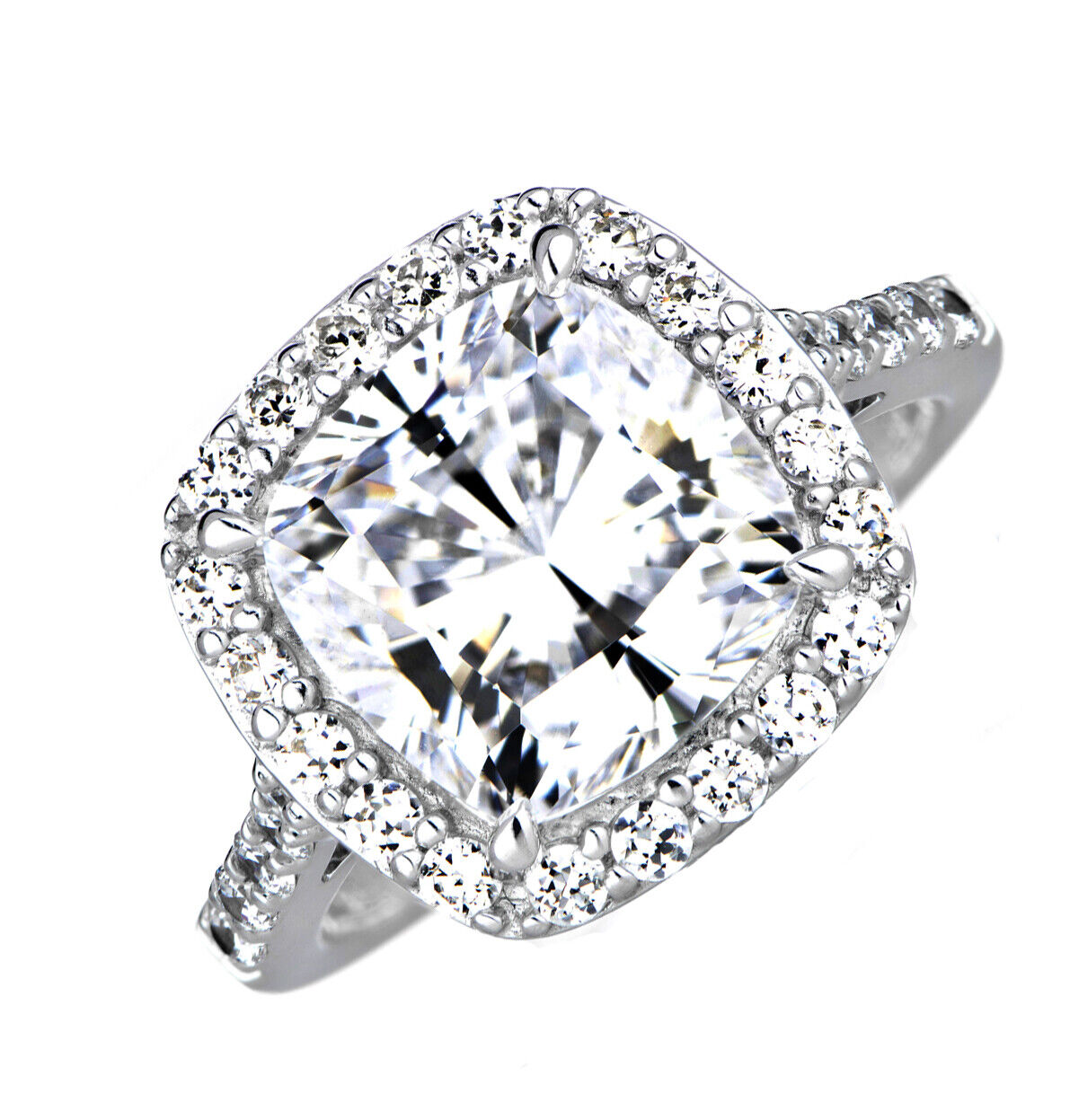 GIA Certified Diamond Engagement Ring  2.65 CT Cushion Cut Platinum VVS1
