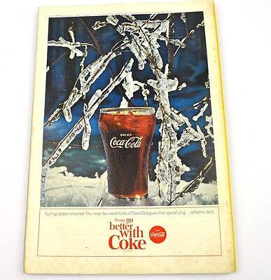 Antiquitäten Anzeigen (Coca-Cola Coke Anzeige USA komplettes Heft National Geographic Magazine 6/1964)