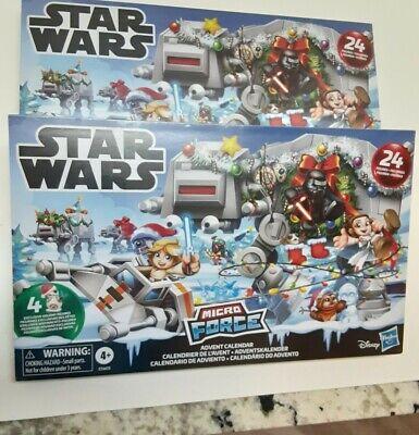 Star Wars: Micro Force Advent Calendar Disney Hasbro Lot of 2