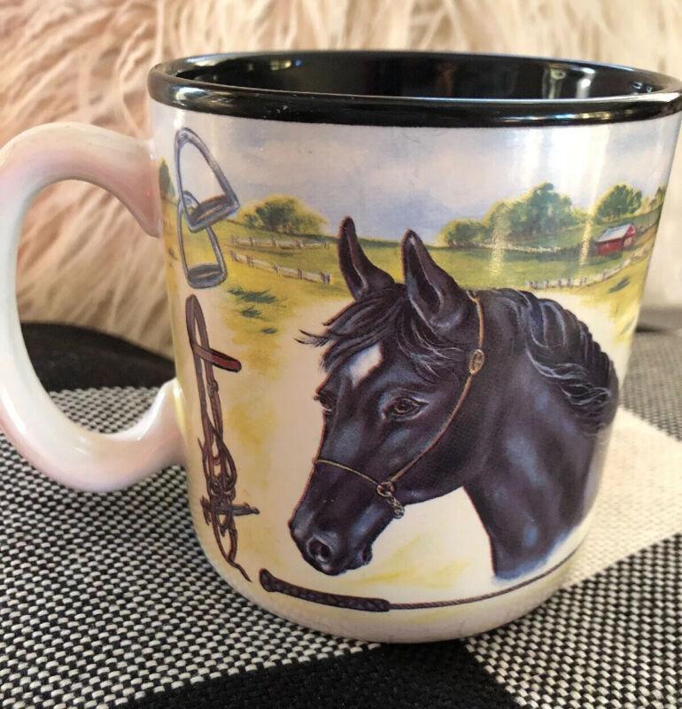 Burton & Burton Horses Coffee Mug Cup  fib horse farm stallion Equestrian EUC
