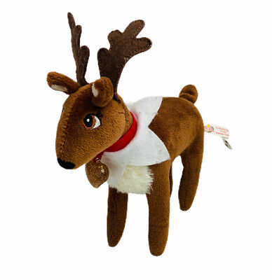 "8"" Elf On The Shelf Pet Reindeer Plush Stuffed Toy Heart Collar Christmas 2014"
