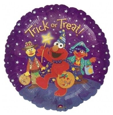 "Bert Ernie Halloween (SESAME STREET HALLOWEEN TRICK OR TREAT 18"" BALLOON ELMO ERNIE BERT!)"