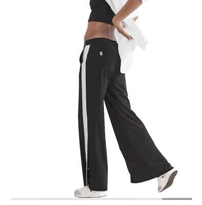 ATHLETA Luxe Gramercy Track Trouser Black Wide Leg Pants sz 4 Small  #406756