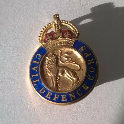 Civil Defence Corps - Pinned Enamel Badge 1940s from Cold War - Vintage Original