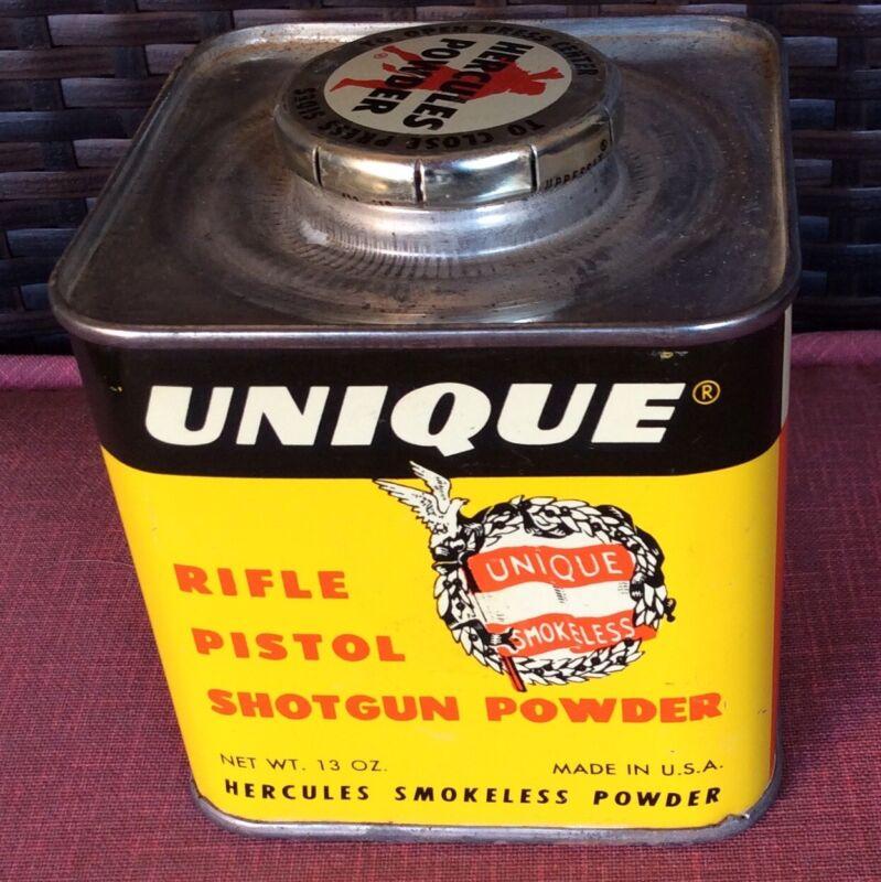 Vintage Unique Hercules Rifle- Pistol & Shotgun Powder Empty Tin