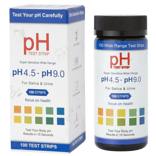 100 pH Test Strips for Urine Saliva and other Non Viscous Liquids