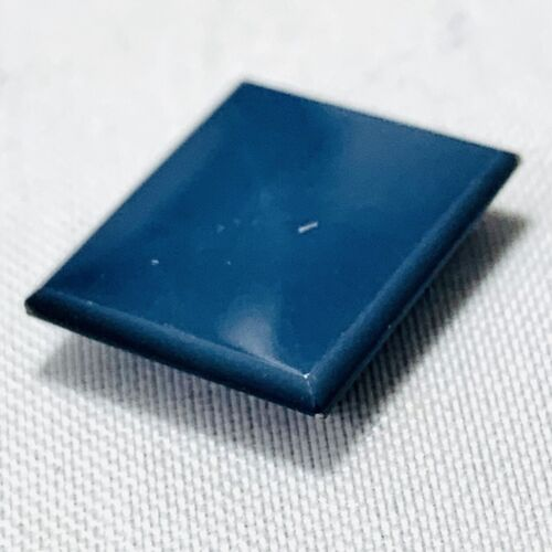 Genuine Black Rectangle Onyx Lagenstein 3.95ct 0 15/32x0 7/16in