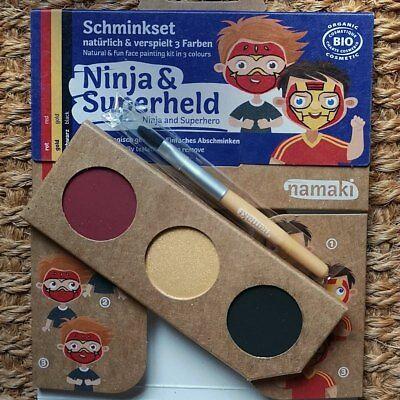 Namaki Cosmetics NINJA & SUPERHELD 3erSet Kinderschminke Karnevalsschminke - Ninja Superheld