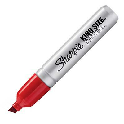 15002 Sharpie King Size Permanent Marker Chisel Tip Red Ink Pack Of 1