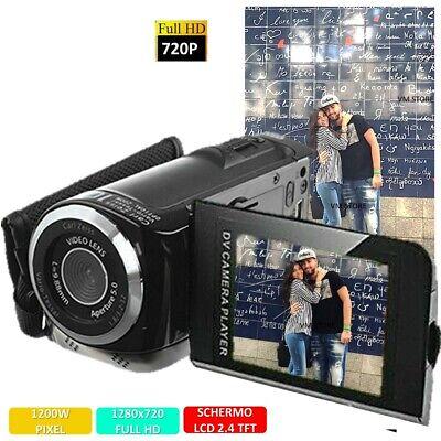 VIDEOCAMERA DIGITALE 12 MEGAPIXEL FOTOCAMERA FULL HD HANDYCAM DIGITAL ZOOMx4