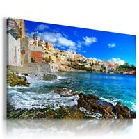 Greece View Canvas Wall Art Picture Large Sizes L39 -  - ebay.co.uk