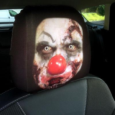 Zombie Clown Design Autositz Kopfstütze Bezüge Pack Zwei - Zombie Auto Zubehör
