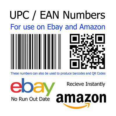 1p Auction EAN / UPC Number Barcode Code For Ebay and Amazon Listings (UK-GA)A2