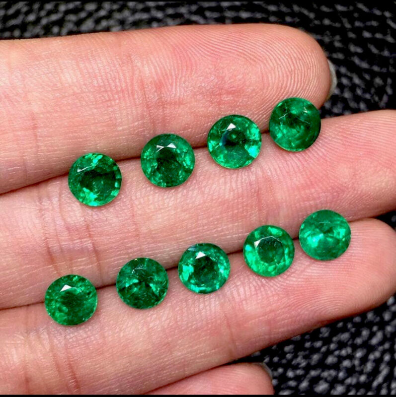 3MM Pair NATURAL EARTH MINE COLOMBIAN EMERALD