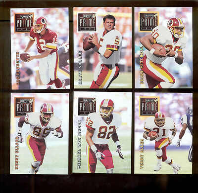 1996 Playoff Prime Washington Redskins Set Heath Shuler Brian Mitchell Frerotte