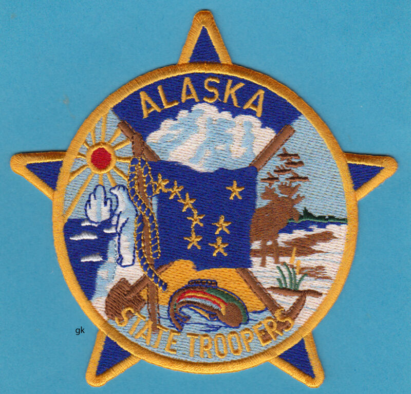 ALASKA  STATE TROOPERS POLICE SHOULDER PATCH