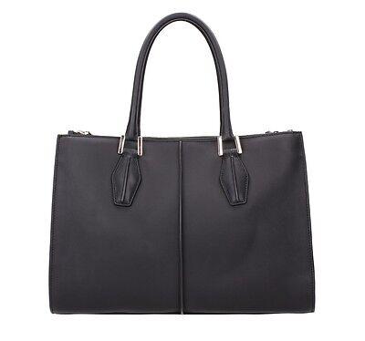 Exquisiter Shopper von TOD´s  Shopping Due Zip Piccola NEU schwarz