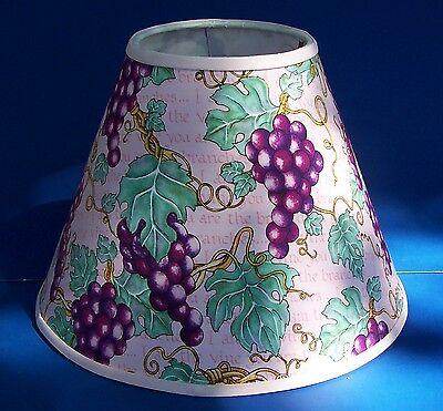 Grapes On Pink Lampshade Grape Wine Handmade Lamp Shade