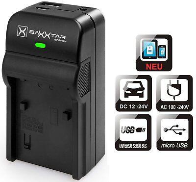 Baxxtar RAZER 600 5in1 Ladegerät für Panasonic DMW BLC12