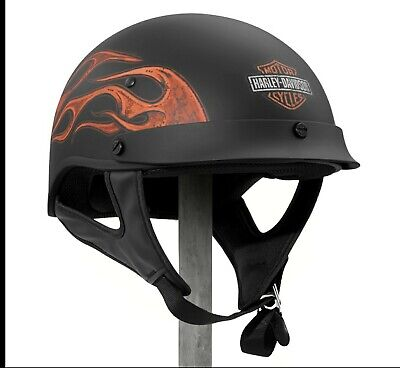 Harley Davidson Motorcycle Half Helmet XXLarge