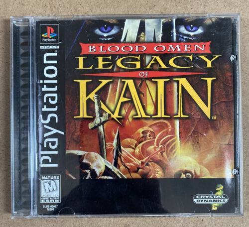 Blood Omen Legacy Of Kain Playstation 1 Ps1 Complete Registration Black Label - $49.99