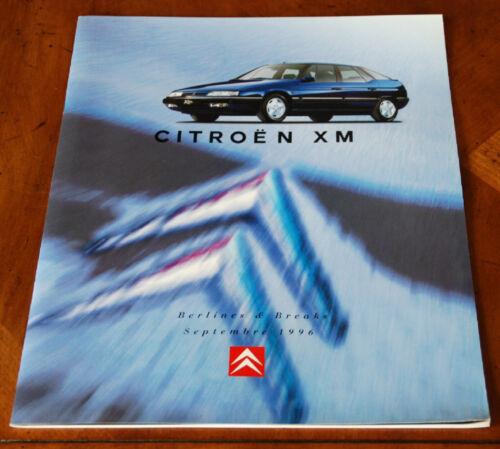 Citroen XM Berline/Break brochure Prospekt, 1996 (French text)