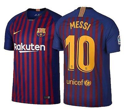 Official Nike VAPOR Match Barcelona FC Home Jersey 2018 2019 Messi 10 Men  Soccer 0ddee858a590d