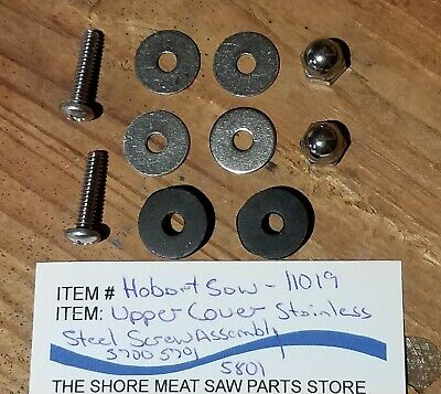 Upper Baffle Ss Screw Assembly For Hobart Saw Models 5700 5701 5801