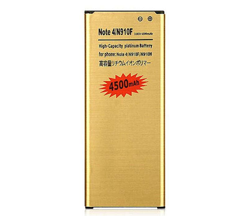 NEW 4500mAh High-Capacity Golden Battery for Samsung Galaxy Note 4 N910 USA