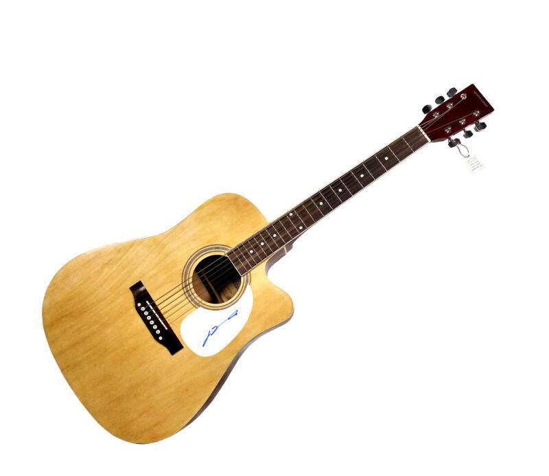 Grease John Travolta Autographed Signed Natural Acoustic Guitar AFTAL UACC RD