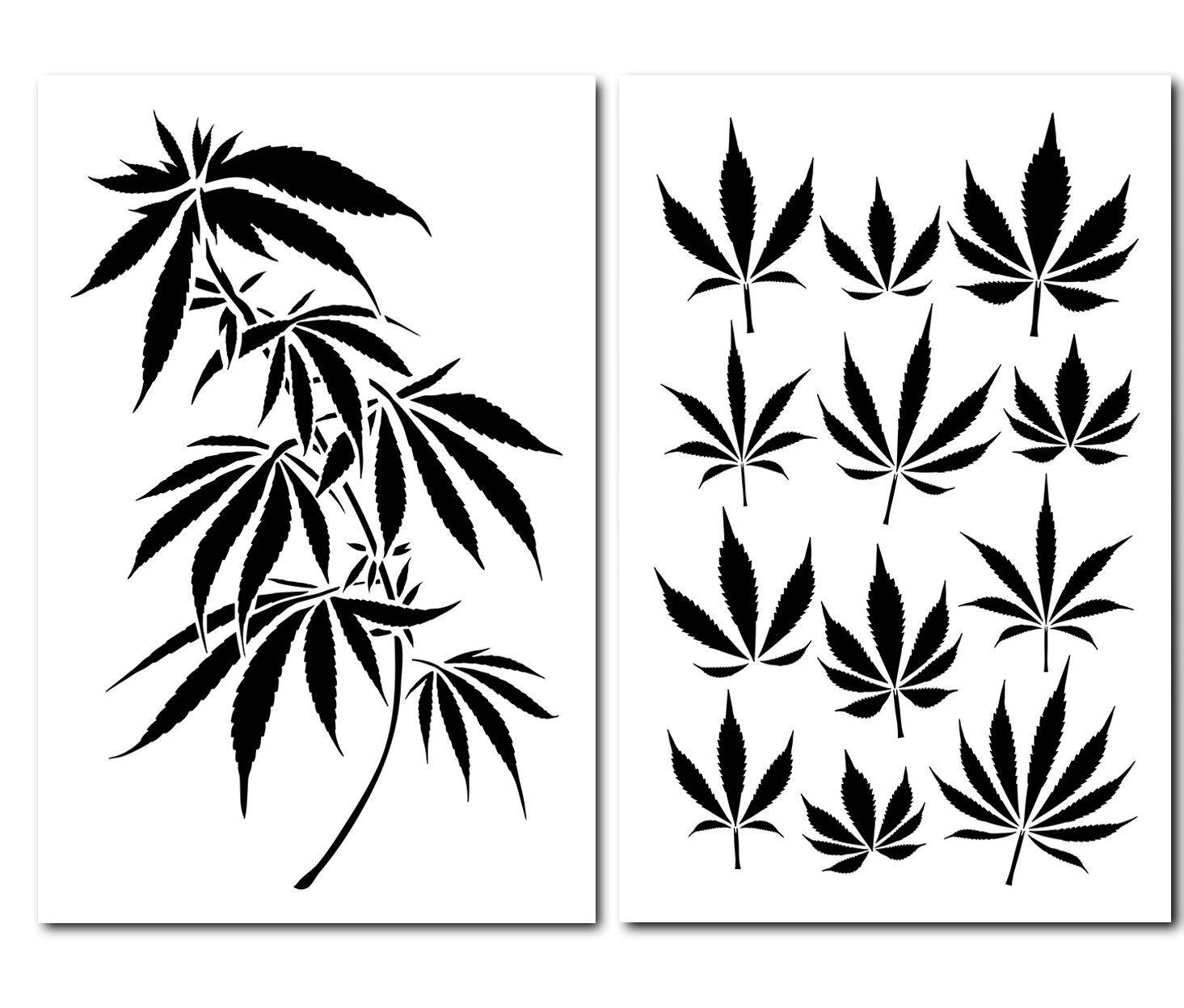 Трафареты марихуаны овсянка с коноплей