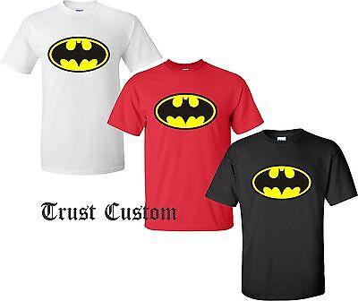 Classic Adult Comics (DC Comics Batman Classic Logo  T-Shirt Adult sizes S -)