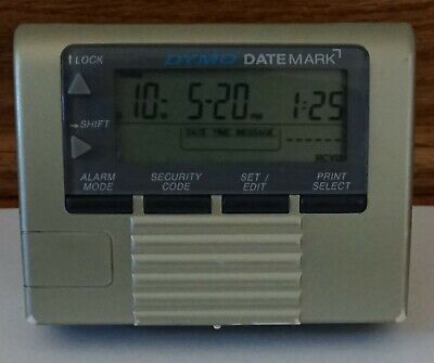 Used Dymo 47002 Datemark Electronic Datetime Stamper - Tested
