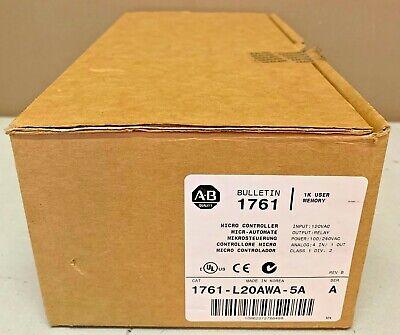 New Allen Bradley 1761-l20awa-5a A Fw 1.0 Micrologix 1000 Controller Analog