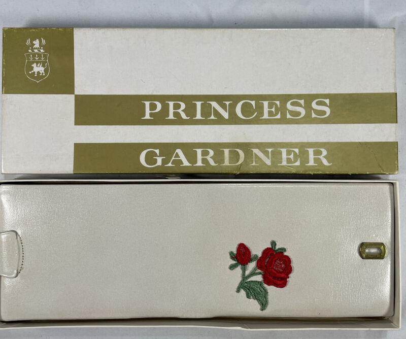 Vintage Princess Gardner White with rose applique wallet New in original box