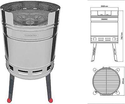 Tramontina Churrasco BBQ Barbecue S/Steel Weather Resistant Beer Barrel Grill