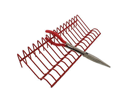 ABN Metal Tool Holder Organizer Tray Storage Rack in Red 16 Pliers Hand Tools