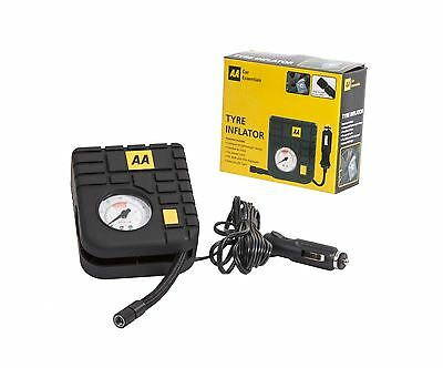 AA Compact 12v Car Tyre Inflator LED Light Plugs in Cigarette Socket
