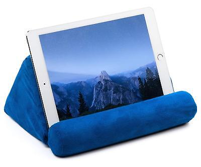 Tablet Pillow For Galaxy Or  IPad Microfiber Mini Tablet Holder Sofa Stand Blue