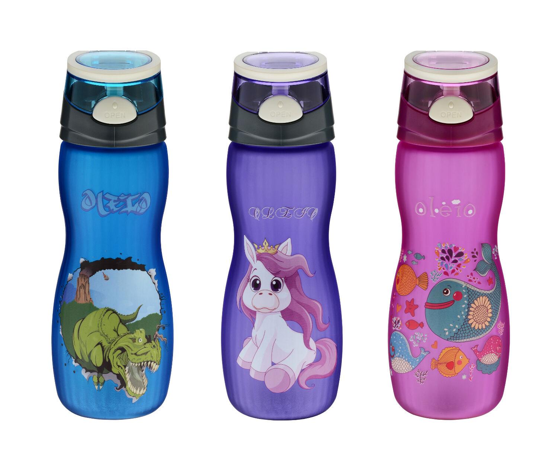 OLEIO Borraccia bambini, acqua, Bottiglia per sport, 500ML, BPA free,Tritan