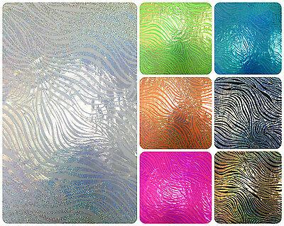 Stretch Zebra - Zebra Pattern Holographic Foil on Stretch Knit Jersey Polyester Spandex Fabric