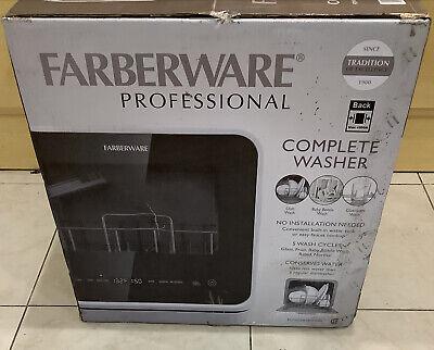 Farberware White Digital Portable 120-v Dishwasher w/ 5-Cycles FDW05ASBWHA NEW