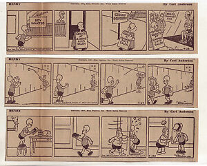 Henry by Carl Anderson - 20 large daily comic strips from April 1947